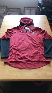 Nike San Francisco 49ers Quarter Zip Windbreaker Jacket Hoodie Red  Men M Medium