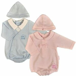 Premature Baby Romper Hat Outfit Set Tiny Prem Small Preemie Early
