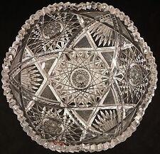 ABP American Brilliant Period Cut Crystal Glass Starburst Fan Scissor More Bowl