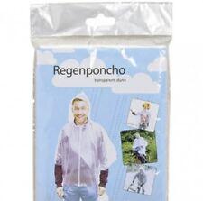 3 STK Regenponcho Transparent Poncho Regencape Regenjacke 127x203cm Regenmantel