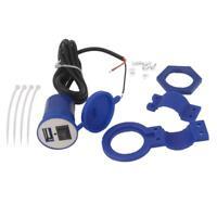 12V USB Caricatore Potere Moto Auto Interruttore Presa Corrente 5V/1.5A Blu