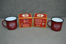 2x Limited Edition Southern Comfort Category Of One Enamel Camping Steel Mug Cup