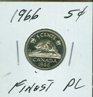 1966 CANADA 5 CENTS TOP GRADE PL 55 CENTS FOR SHIPPING