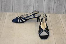 David Tate Rosette Slingback Sandal - Women's Size 9.5N - Navy
