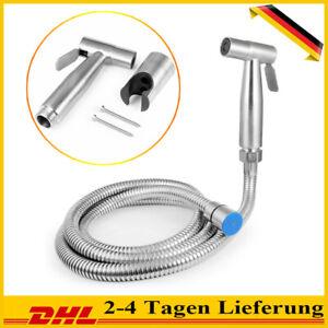 Bidet Brause Und Halter Edelstahl WC Hand Duschkopf Intim Hygiene Dusche Bad Set