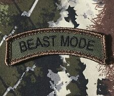 BEAST MODE ARMY ROCKER TAB USA MORALE FOREST PATCH VELCRO® BRAND FASTENER