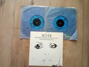 "vinyl 7""records x3 blondie singles+ep"