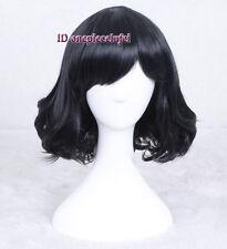 Terezi Pyrope short black wavy curly cosplay wig + free wig cap