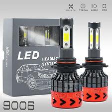 All in One 9006 100W 10000LM CREE LED Fog Lamp Kit Light Bulbs 6000K White