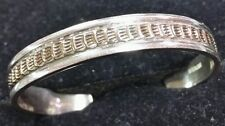 Sterling mens bracelet with gold filled.