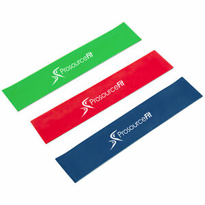 Set of 3 Multi-Resistance Level Loop Resistance Bands for Lower Body Workouts