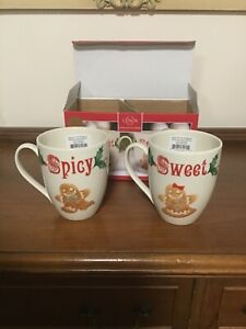 "Lenox ""American by Design"" Sweet and Spicy 14oz. Mugs New in Box."