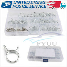 70 Pcs Stainless Steel Car SUV Double Wire Fuel Line Hose Tube Spring Clamps Set