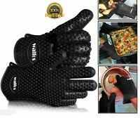 Heat Resistant Glove For Home Kitchen Barbecue Oven Baking Hands Protector New