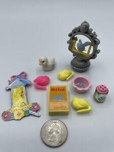 Barbie Dollhouse Diorama Kennel Care Pets BIRD DUCK SEED