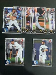 2016 Bowman San Diego Padres Team Set 15 Cards With Prospects & Draft