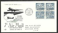 Canada #414 New Air Mail Rate to USA FDC