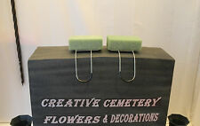 2 Regular Memorial Cemetery Flower Headstone/Tombstone Saddles With Floral Foam