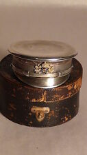 RARE STERLING PILL BOX GIVEN BY KAISER WILHELM II(GERMAN EMPEROR 1888-1918),NOTE