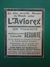 4/1931 PUB PARACHUTE AVIOREX PILOTE SAUVETAGE AVION CLICHY ORIGINAL AD