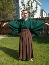 Custom Made To Order Japanese Full Samurai Kimono Hakama Set Martial Arts