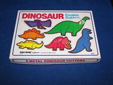 Dinosaur Cookie Cutters Fox Run Craftsmen 1985 Complete w Box