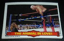 George Steele Signed WWF 1985 Topps O-Pee-Chee Card PSA/DNA COA WWE The Animal