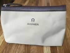 AIGNER COSMETIC AMENITY BAG AND CONTENTS AS ISSUED BY QATAR AIRWAYS. UNUSED