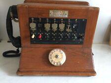 Tableau pour reseau BC/Telephone public/PTT/Bois&Bakélite/Vintage