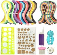 New listing Nice Quilling Kit Paper Filigree 1620 Strips Slotted Tools Comb Colorful Diy