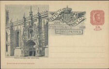 Portugal 1898 Illustrated 10 Reis Postal Card EXC COND