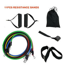 11PCS Exercise Yoga Workout Stretch Resistance Bands Fitness Training Tubes Rope