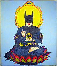 Batman Painting - Batman as Eastern Deity - Original Oil on Canvas DC Superhero