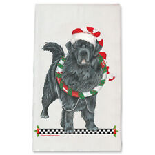 Newfoundland Newfie Dog Christmas Kitchen Towel Holiday Pet Gifts