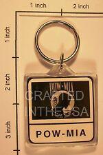 POW MIA Flag Keychain Plastic Double Sided Key Ring Chain Souvenir Veteran USA