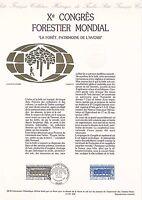 Document Philatélique Timbre 1er Jour : 22/09/ 1991 - Congrès Forestier Mondial
