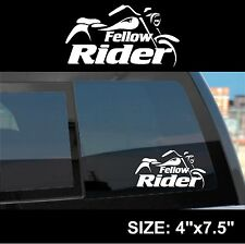 Fellow Rider - Motorcycle Sticker Decal OPTION 3 - Harley