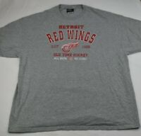 Detroit Red Wings Old Time Hockey Grey Shirt XXL D1