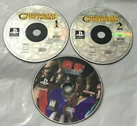 Lot of 3 PS1 Chronicles of the Sword 1 & 2 | Tekken 2 Disc Only  Playstation 1