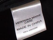VERONIKA MAINE ShortBlackScoopedNeck3/4Slvd Sz6 EUC