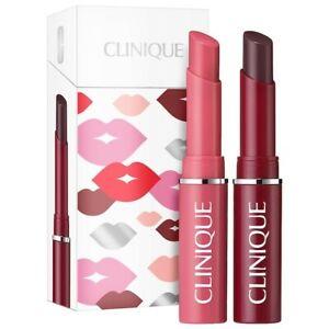 Clinique Almost Lipstick Duo - Black Honey + Pink Honey - NIB