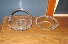 """Candlewick Crystal Basket~ 6.5"""" x 5"""" ~Elegant ~Plus 5"""" bowl"""