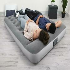 Bestway 12in Air Mattress with Built in AC Pump Flocked Airbed Camping Full Size