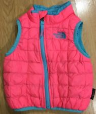 The North Face Thermoball Vest Baby Toddler Size 6/12 Months Pink And Blue