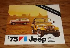Original 1975 Jeep Auto Show Edition Sales Brochure 75 Cherokee Wagoneer CJ-5