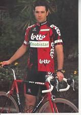 CYCLISME carte cycliste WILLEMS LUDWIG équipe LOTTO MOBISTAR 1997