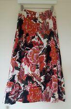 Vintage 1970 Floral Midi Skirt Boho Hippie