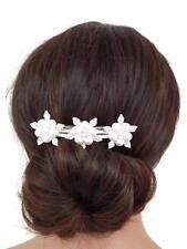 Perlas Y Cristal Hermoso Diseño De Flores Pasador Pelo Clip Nupcial