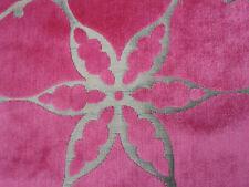Harlequin Curtain/Upholstery Fabric 'PASHA' 3 METRES Blush/Coffee Cut Velvet