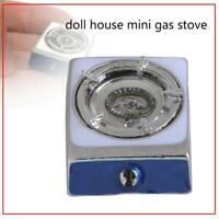 1:12 Dollhouse Miniature Silver Gas Stove Kitchen Cooking Tool Accessories